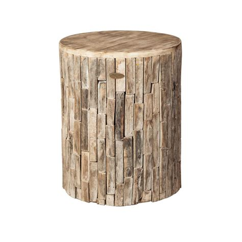 patio sense elyse wood outdoor garden stool 62420