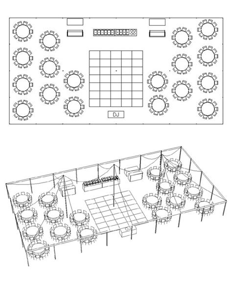 A Party Center Tent Calculator Tent Layout Template