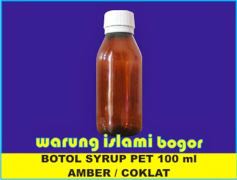 Botol Plastik 350 Ml Botol Sirup Dan Madu jual botol plastik farmasi 120ml warung islami bogor