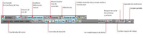 mostrar barra superior autocad barras de estado