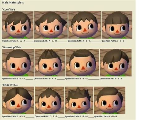 hairstyles animal crossing ds shoodle hair guide animal crossing city folk google
