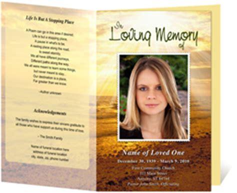 memorial handout template funeral programs funeral handouts programs for funerals