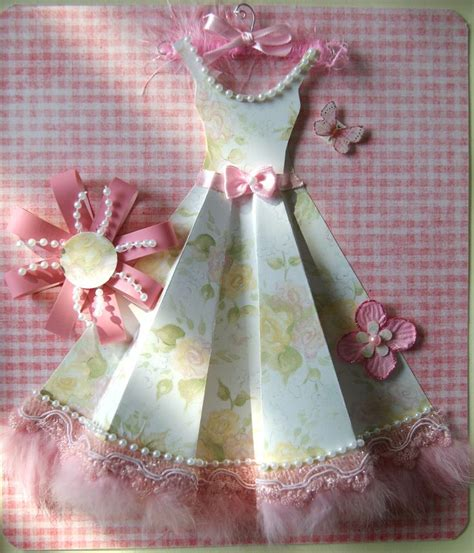 Paper Dress Craft - pretty paper dress paper crafts