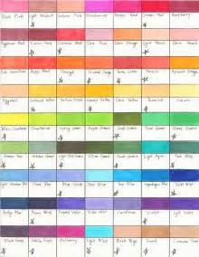 prismacolor marker color chart prismacolor color chart i by saintarsenic on deviantart