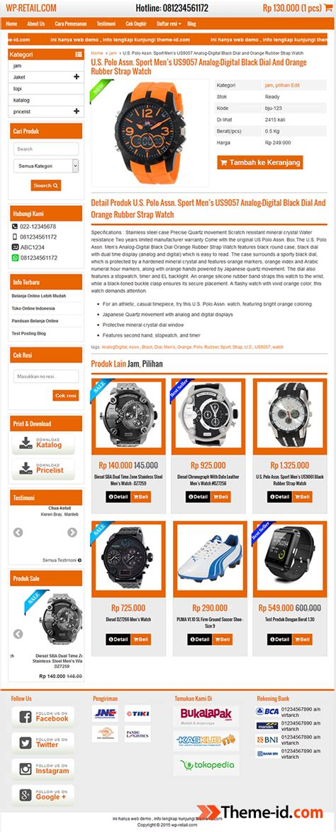 themes toko online wordpress gratis wp retail theme theme id com
