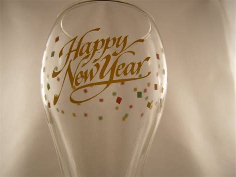Happy Nuts Barware 2 Happy New Year Chagne Flute Toasting Glass Glasses