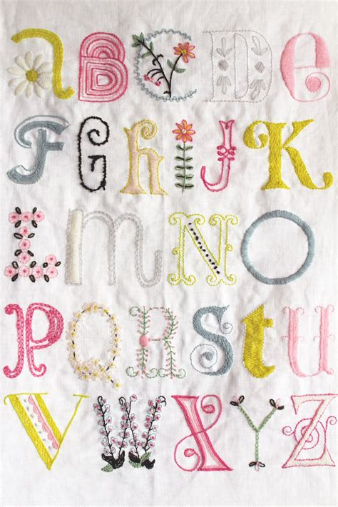 embroidery letters 1000 ideas about embroidery alphabet on