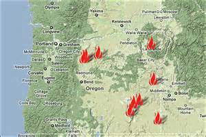 fires in oregon map fires in oregon