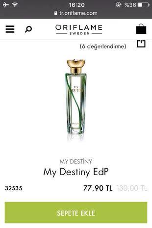Parfum Oriflame My Destiny oriflame my destiny parf 252 m diğer parf 252 m 65 indirimli