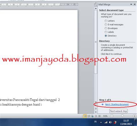 tutorial membuat mail merger tutorial membuat mail merge di ms word 2010 iman jayoda