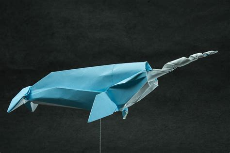 Origami Narwhal - zing origami arctic marine animals