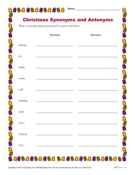 speech pattern synonym christmas synonyms and antonyms printable holiday