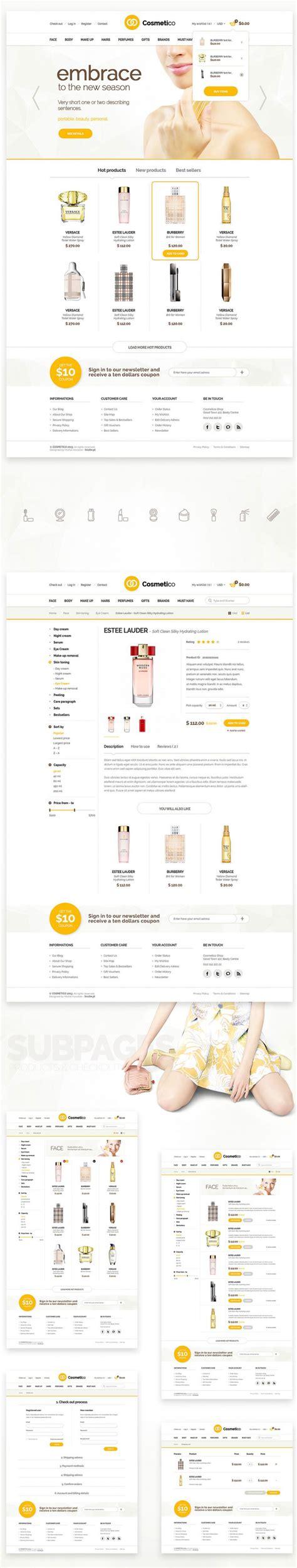 ecommerce website templates psd free shop ecommerce website template free psd