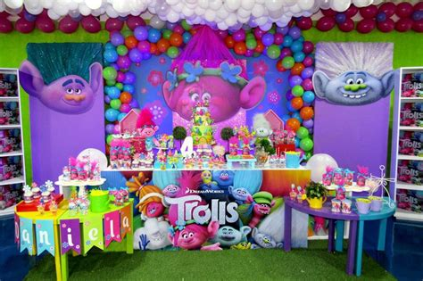 decoracion trolls fiesta de cumplea 241 os decoraci 243 n trolls playground babies