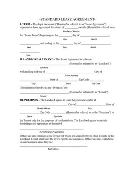 Illinois Standard Lease Agreement By Charles Gendroni Issuu Ny Residential Lease Agreement Template