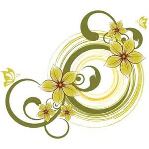 green flower design background by cgvector on deviantart