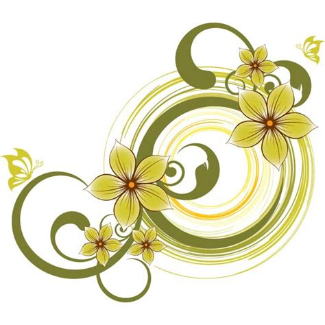 flower design pictures green flower design background by cgvector on deviantart