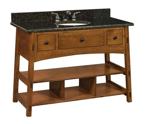 amish bathroom vanity cabinets amish 49 quot mccoy mission bathroom vanity cabinet bathroom