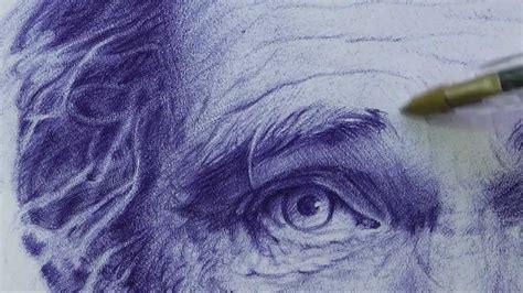 dibujos realistas boligrafo retrato dibujo bol 237 grafo 2 hd youtube