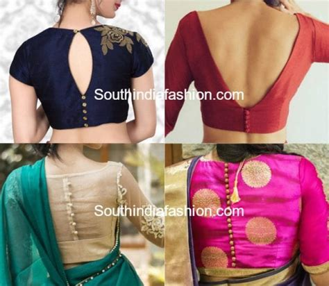 blouse neck designs photos blouse back neck designs with buttons south india fashion