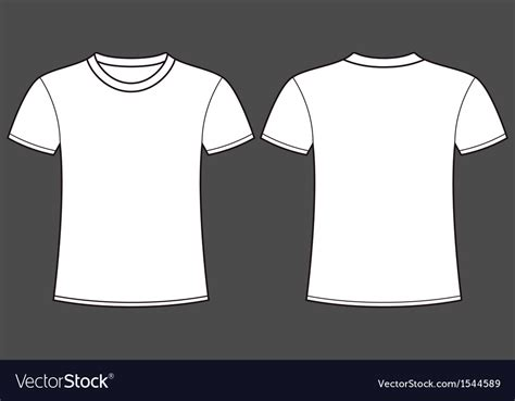 Blank T Shirt Template Front And Back Royalty Free Vector T Shirt Front And Back Template