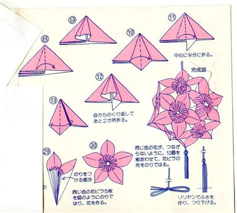 Origami Folding Patterns - kusudama diagrams submited images pic 2 fly kusudama