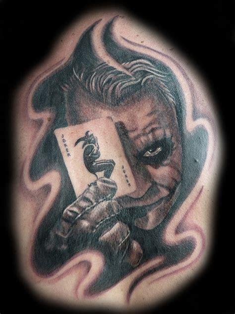 joker tattoo real joker card tattoo pictures gallery