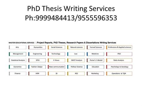 phd dissertation writing services phd thesis writing services in india authorstream
