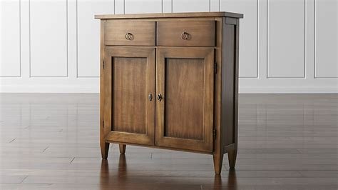 stretto nero noce cabinet crate and barrel