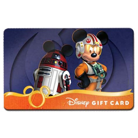 Star Gift Card Balance - your wdw store disney collectible gift card skywalker mickey r2 mk