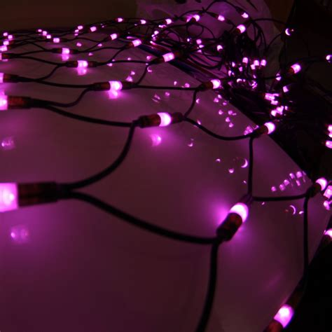 pink outdoor lights 648 pink led outdoor net light connectable 4m x 2m