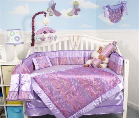 Lavender Butterfly Crib Bedding How To Soho Lavender Butterfly Silky 10pcs Baby Crib Bedding Set This Shopping