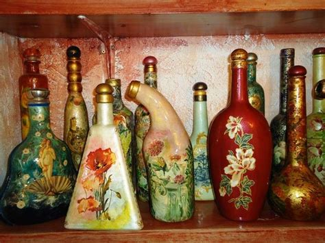 tutorial decoupage barattoli vetro oggetti di vetro decorati foto 39 42 tempo libero