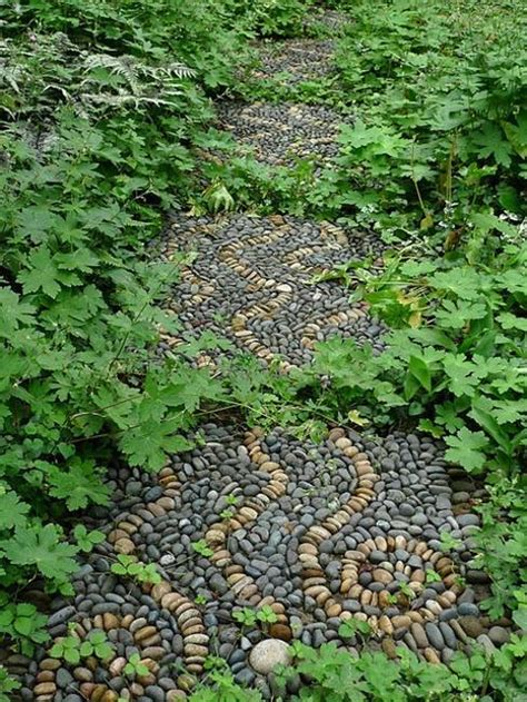 Pebbles And Rocks Garden Beautiful Garden Path Designs And Ideas For Yard Landscaping With Pebbles