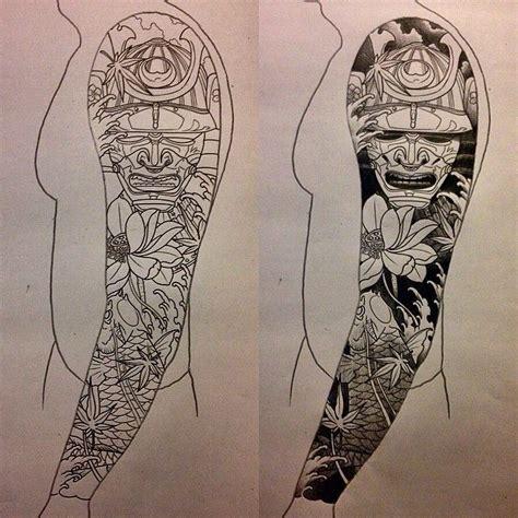 japanese tattoo hshire uk i like horimono sketch for a japanese sleeve