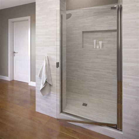 Basco Classic 28 1 8 In X 66 In Semi Frameless Pivot 28 Shower Door
