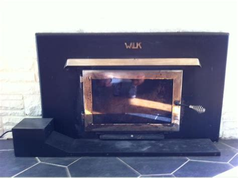 wood airtight fireplace insert wilk brand with fan
