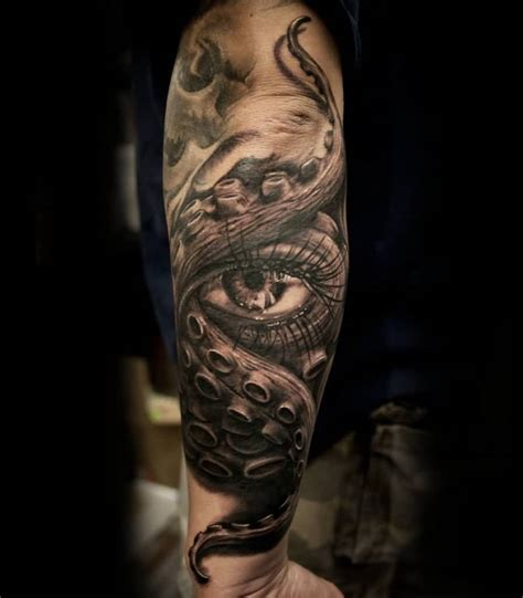 back arm tattoos for men 3d arm tattoos