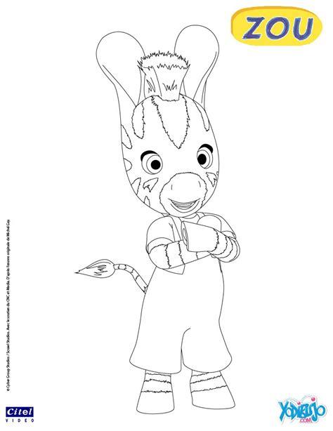 dibujos infantiles zou dibujos para colorear zou la cebra es hellokids com