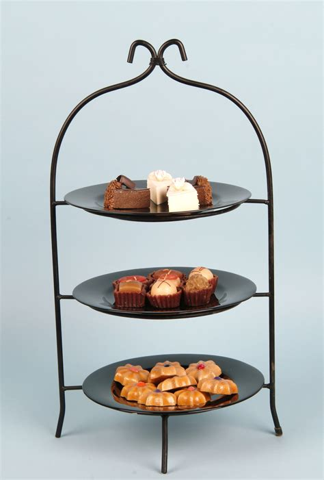 3 tiered buffet stand black iron arizona party rental