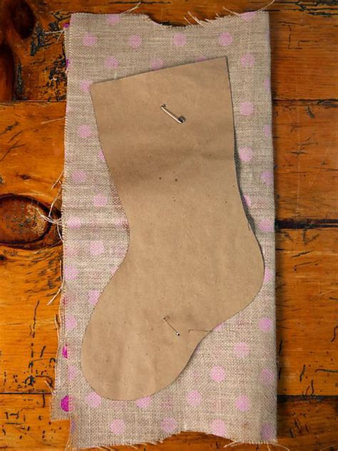 pattern for burlap christmas stockings how to make a no sew burlap christmas stocking how tos diy