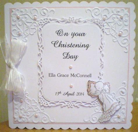 Handmade Christening Cards From Grandparents - baby christening card using spellbinders baby image