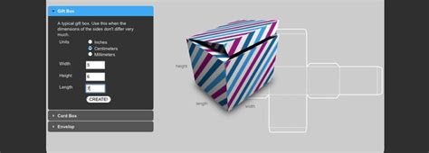 Card Box Template Generator by A Custom Box Template Maker Works For Boxes Flat