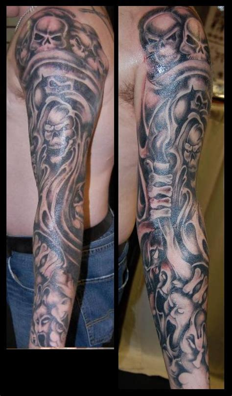 full body grim reaper tattoo underwater sleeve tattoos reaper tattoo grim reaper