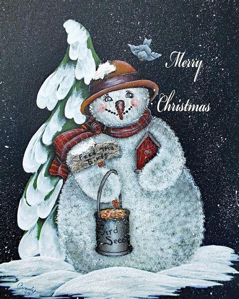 merry christmas snowman photograph  cindy treger