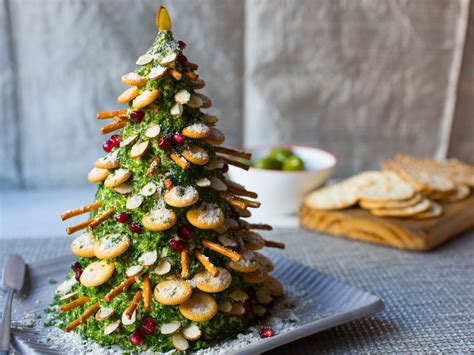 cheese and crackers christmas tree recipe food network