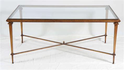 Glass Top Metal Coffee Table Neoclassical Style Metal Coffee Table With Glass Top For Sale At 1stdibs