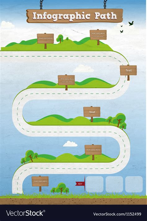 path layout graphic design infographic path template royalty free vector image