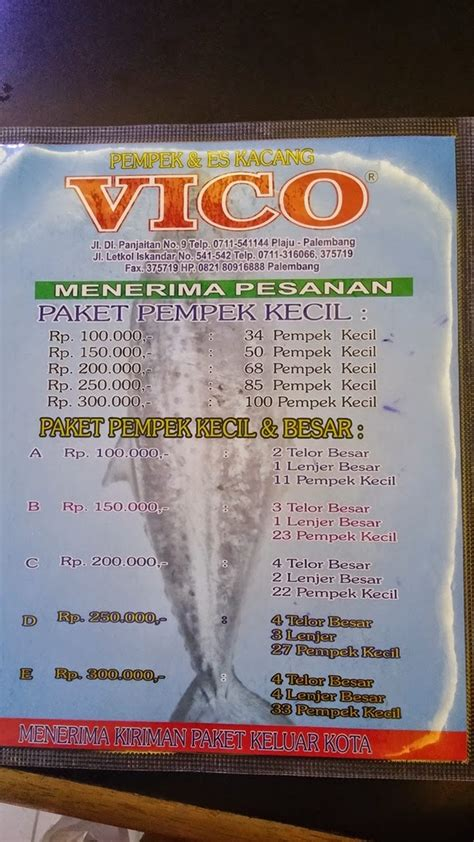 pempek vico palembang tempat makan  palembang
