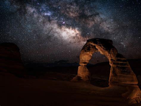 milky  stone gate  arches national park utah united